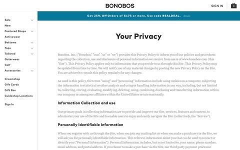 Privacy | Bonobos