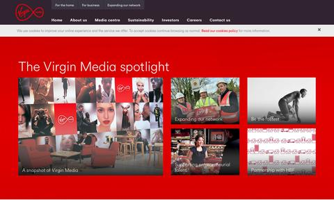 Screenshot of About Page virginmedia.com - Corporate | Virgin Media - captured Aug. 22, 2016