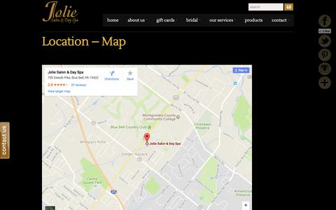 Screenshot of Maps & Directions Page joliespa.com - Location – Map     Jolie Spa - captured Oct. 16, 2017