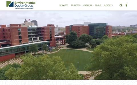 Screenshot of Home Page envdesigngroup.com - Planning, Design & Civil Engineering | Environmental Design Group - captured Sept. 28, 2018