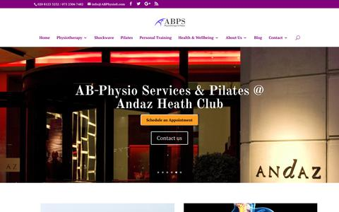 Screenshot of Home Page abphysios.com - AB Physios Liverpool Street | AB Physiotherapy & Pilates London | Expert Physios in London - captured Dec. 14, 2018