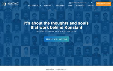 Screenshot of Team Page konstantinfo.com - Konstant Team - Management, Development & Marketing Team - captured Aug. 4, 2019