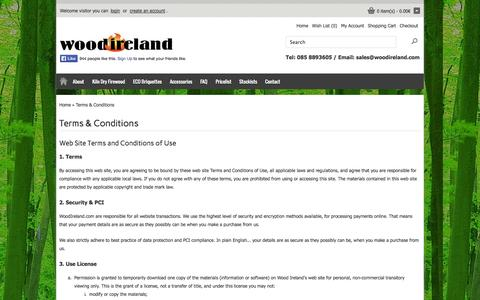 Screenshot of Terms Page woodireland.com - Terms & Conditions - captured Oct. 9, 2014