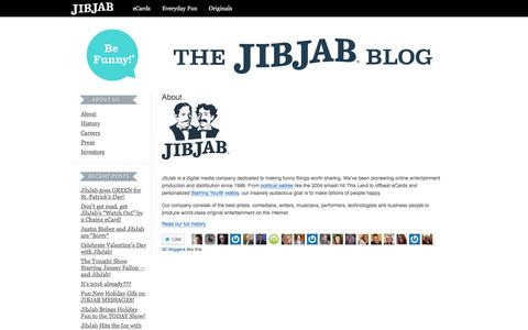 Screenshot of About Page jibjab.com - About « The JibJab Blog - captured Jan. 31, 2017