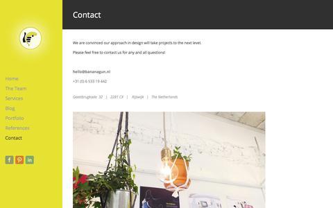 Screenshot of Contact Page bananagun.nl - Contact - bananagun - captured Aug. 23, 2017