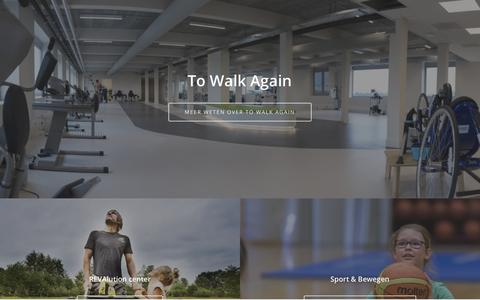 Screenshot of Home Page towalkagain.be - Home - To Walk Again VZW - captured July 13, 2018