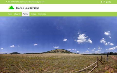 Screenshot of Services Page mahancoal.com - Policies – Mahan Coal Limited - captured Sept. 25, 2018