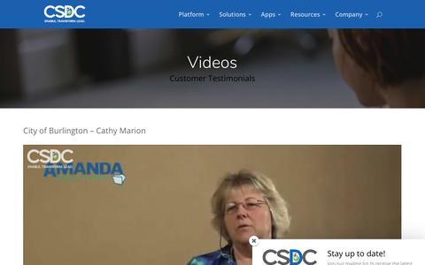 Screenshot of Testimonials Page csdcsystems.com - Testimonials | CSDC Inc - captured Nov. 9, 2018