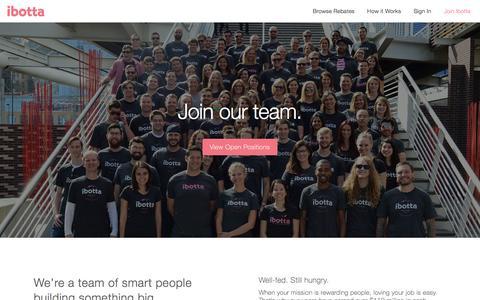 Screenshot of Jobs Page ibotta.com - Careers - Ibotta.com - captured Sept. 1, 2016