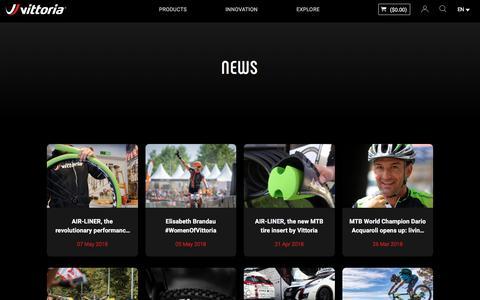 Screenshot of Press Page vittoria.com - News details   Vittoria Bicycles Tires & Wheels - vittoria.com - captured Sept. 22, 2018