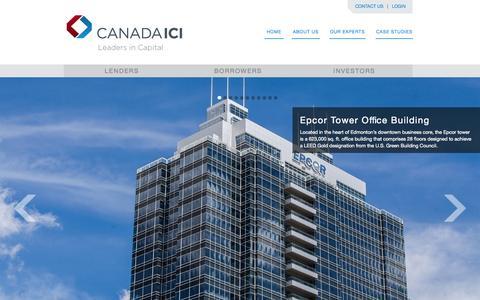 Screenshot of Case Studies Page canadaici.com - Case Studies | Canada ICI Capital Corporation - captured Oct. 1, 2014