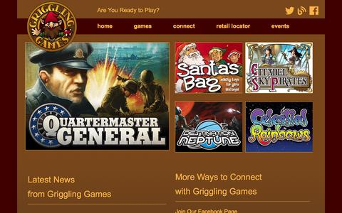 Screenshot of Home Page grigglinggames.com - Griggling Games | Are You Ready to Play? - captured Oct. 3, 2014