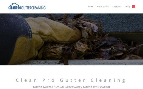 Screenshot of Home Page Site Map Page cleanproguttercleaning.com - Clean Pro Gutter Cleaning | A Professional Gutter Cleaning Company - captured Jan. 27, 2018