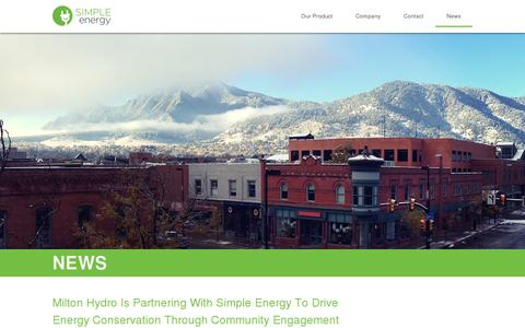 Screenshot of Press Page simpleenergy.com - News | Simple Energy - captured July 20, 2014
