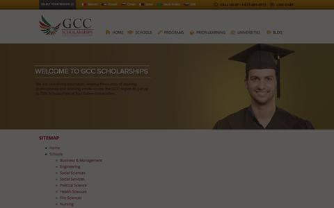 Screenshot of Site Map Page gccscholarships.com - Sitemap | GCC Scholarships - captured Sept. 26, 2014