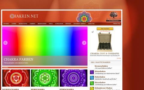 Screenshot of Home Page chakren.net - Chakra | Dr. Schweikart - captured Sept. 23, 2014