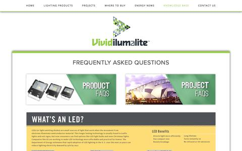 Screenshot of FAQ Page ilumalite.com - Lighting specialists | Energy Saving LED solutions | Reliable and experienced | FAQs — Vivid ilumalite - captured Oct. 4, 2017
