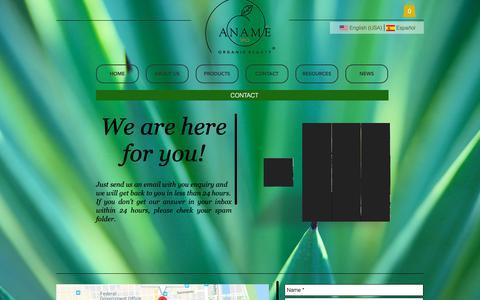 Screenshot of Contact Page anamevio.com - anamevio   CONTACT - captured Oct. 19, 2018