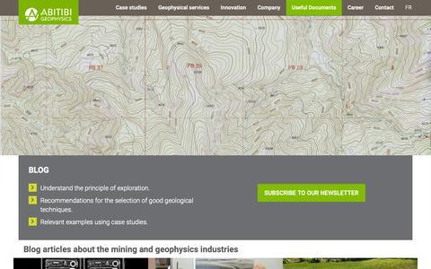 Screenshot of Blog ageophysics.com - Blog | Abitibi Geophysics - captured Oct. 2, 2018