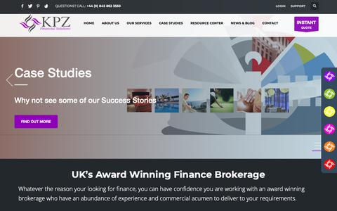 Screenshot of Home Page kpzltd.co.uk - KPZ Financial Solution – Personal and Business Services - captured Nov. 6, 2018