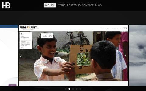 Screenshot of Home Page agence-hybrid.com - HYBRID . Agence coopérative de design - captured Sept. 30, 2014