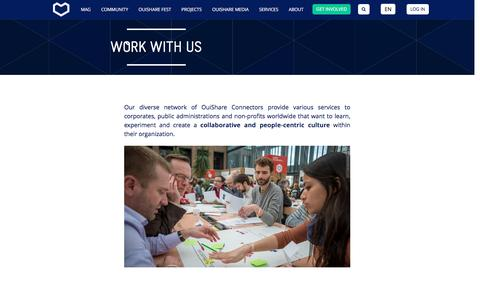 Screenshot of Services Page ouishare.net - OuiShare : Work with us - captured Nov. 30, 2016