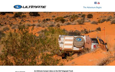 Screenshot of Press Page ultimateoffroadcampers.com.au - An Ultimate Camper takes on the Old Telegraph Track  - Videos - Ultimate Off-Road Campers - Australia's Best Off-Road Camper Trailers - captured Jan. 12, 2016