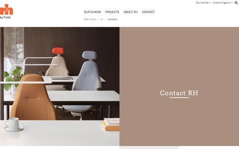 Screenshot of Contact Page flokk.com - Contact - Flokk - captured July 13, 2018