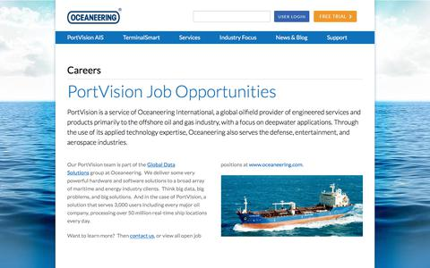 Screenshot of Jobs Page portvision.com - Careers - Portvision - captured July 20, 2018