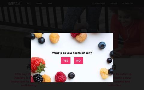 Screenshot of greatist.com - Advertise   Greatist - captured Aug. 31, 2016