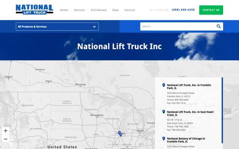 Screenshot of Locations Page nlt.com - Buy Rental Forklifts For Sale  | National Lift Truck, Inc. - captured Oct. 18, 2018