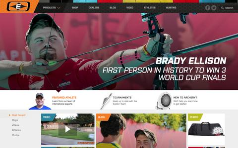 Screenshot of Home Page eastonarchery.com - World-Class Carbon Target Arrows and Archery Supplies | Easton Archery - captured Sept. 19, 2014