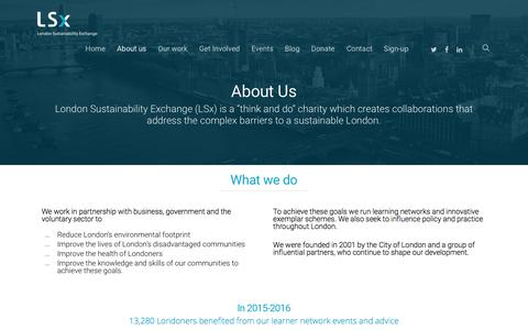 Screenshot of About Page lsx.org.uk - About us - Lsx - captured Sept. 7, 2017