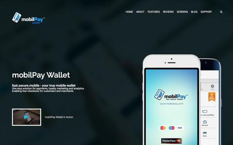 Screenshot of Home Page mobilpay.com - mobilPay Wallet - fast.secure.mobile - captured Feb. 28, 2016