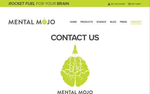 Screenshot of Contact Page mentalmojo.me - Contact Mental Mojo | Mental Mojo - captured Sept. 20, 2018