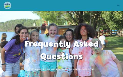 Screenshot of FAQ Page ramahwisconsin.com - Frequently Asked Questions — Camp Ramah in Wisconsin - captured Sept. 26, 2018