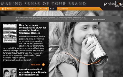 Screenshot of Press Page porterhouse.biz - Porterhouse Medical :: News - captured Nov. 8, 2016