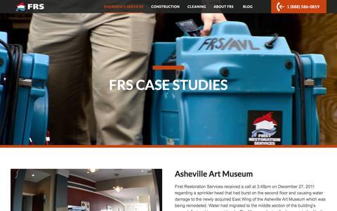 Screenshot of Case Studies Page frs247.com - Case Studies | First Restoration Services - captured Feb. 10, 2016