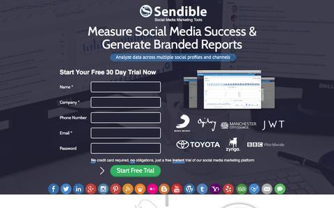 Screenshot of Landing Page sendible.com - Mesian says... - captured Dec. 11, 2015