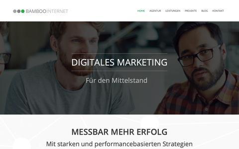 Screenshot of Home Page bamboo-internet.de - Bamboo Internet - AdWords, SEO & Webdesign Agentur in Berlin - captured Nov. 13, 2018