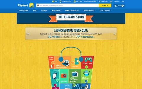 Screenshot of About Page flipkart.com - Flipkart.com - captured April 18, 2016
