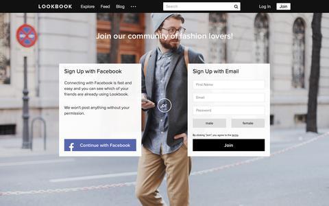 Screenshot of Signup Page lookbook.nu - Lookbook | collective fashion consciousness - captured Nov. 4, 2018