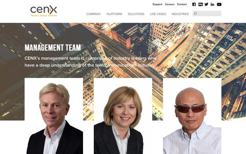 Screenshot of Team Page cenx.com - CENX: Management Team - captured July 14, 2018