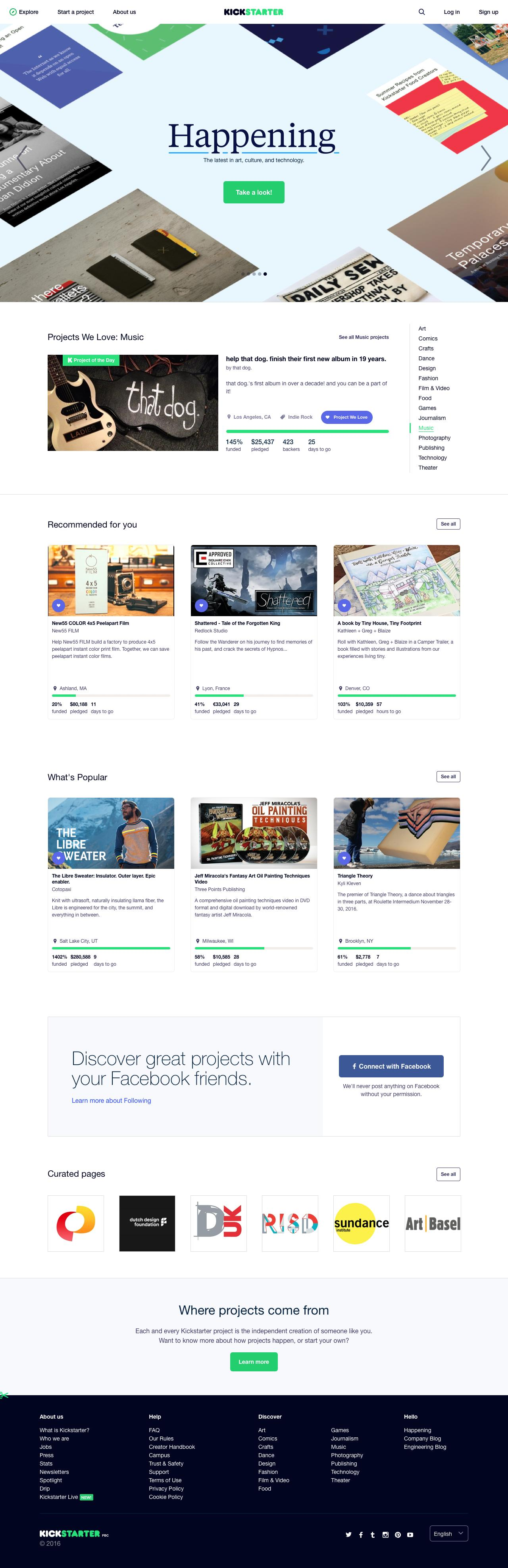 Screenshot of kickstarter.com - Kickstarter - captured Nov. 7, 2016