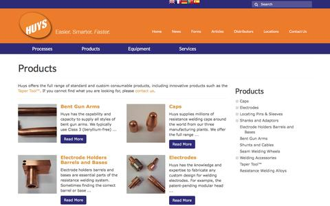 Screenshot of Products Page huysindustries.com - Products • Huys - captured Nov. 15, 2016