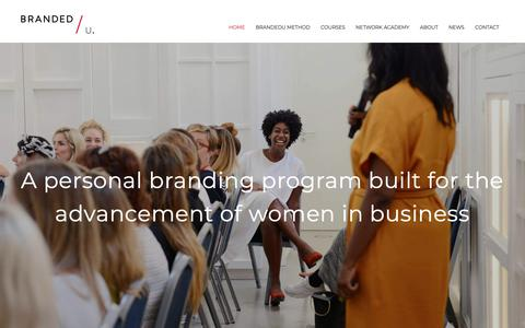 Screenshot of Home Page brandedu.nl - Personal branding program to increase the visibility of women in business - captured Dec. 19, 2018