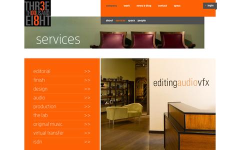 Screenshot of Services Page 3008.com - Services - 3008 - captured Oct. 7, 2014