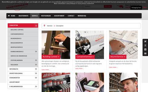 Screenshot of Services Page mastermate.nl - Concepten - Mastermate - captured Nov. 6, 2018