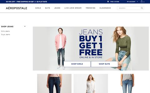 Jeans for Teens - Shop Guys &  Girls Jeans | Aeropostale