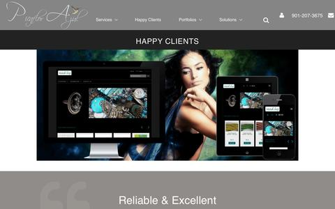 Screenshot of Testimonials Page picaflor-azul.com - Custom Zen Cart Design:  Testimonials From Satisfied Customers - captured Feb. 19, 2016